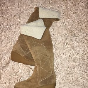 Michae Kors Camel Colored Suede Womens Boots sz7.5